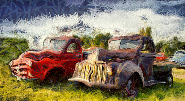 Photograph - Funky Antique Trucks by Floyd Snyder