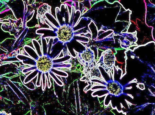 Digital Art - Funky Flowers by Anita Burgermeister