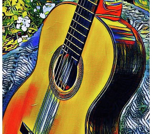 Photograph - Funky Guitar by The Art of Alice Terrill