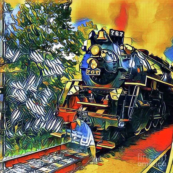 Photograph - Funky Locomotive Steam Engine by The Art of Alice Terrill