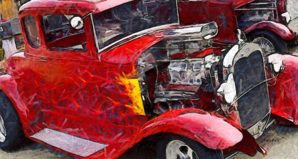 Photograph - Funky Red Hot Hot Rod by Floyd Snyder