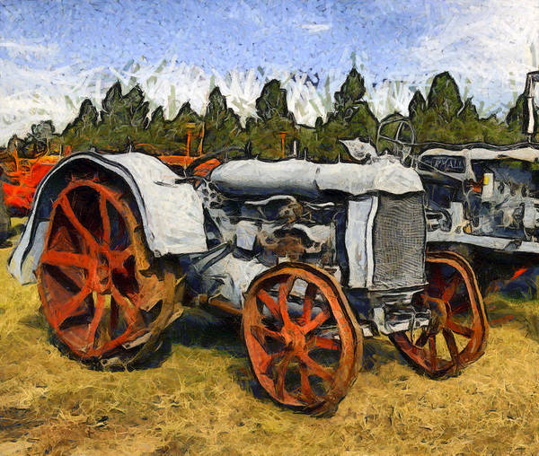 Photograph - Funky Vintage Tractor by Floyd Snyder