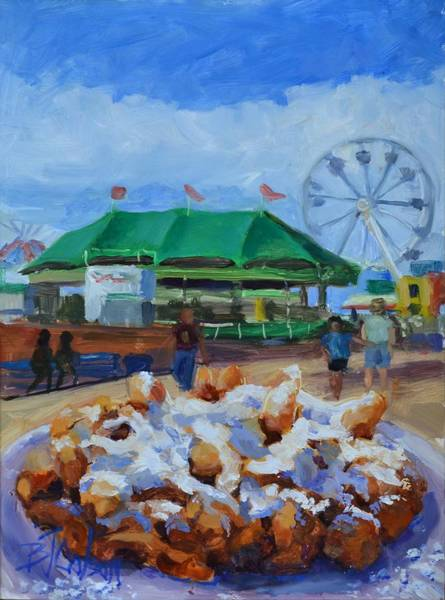 County Fair Painting - Funnel Cake  by Billie Colson