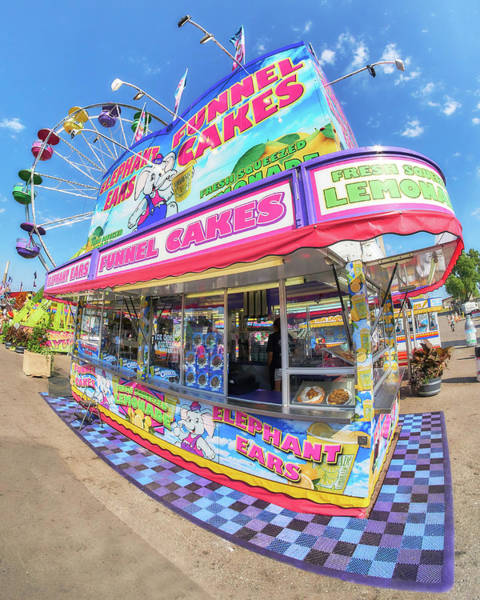 Fish Eye Lens Photograph - Funnel Cakes At The State Fair by Jim Hughes
