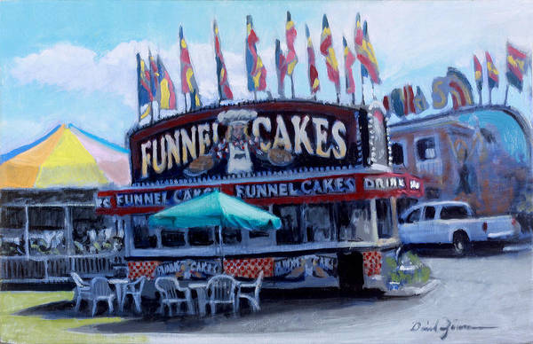 County Fair Painting - Funnel Cakes by David Zimmerman