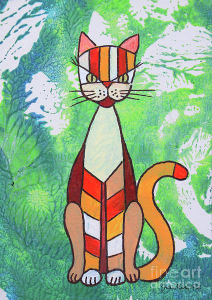 Wall Art - Painting - Funny Cat by Jutta Maria Pusl
