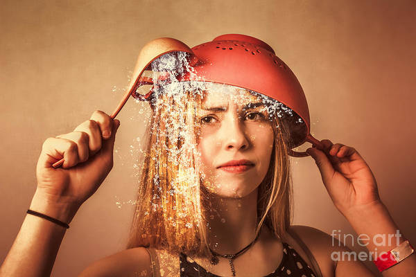 Photograph - Funny Creative Cooking Pinup Girl by Jorgo Photography - Wall Art Gallery