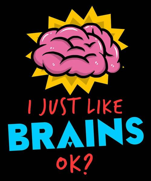 Psychiatrist Digital Art - Funny Psychiatrist Brain Apparel Doctor Gift by Michael S