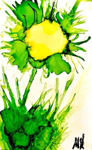 Wall Art - Painting - Funny Sunny Flower by Marsha Heiken