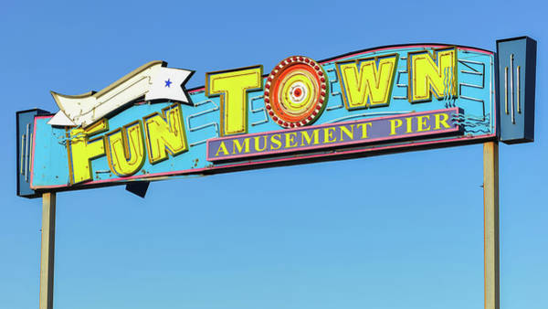 Photograph - Funtown Pier Sign Seaside Nj by Terry DeLuco
