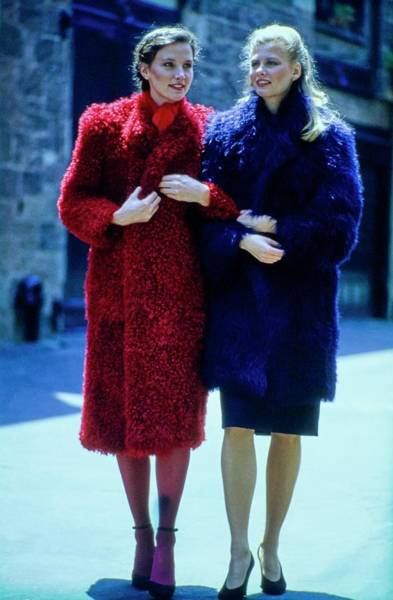 Photograph - Fur Fit Two Colorful Fur Coats by Douglas Hopkins and Tony Palmieri