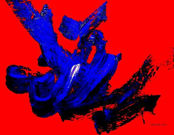 Painting - Furious - Screaming by VIVA Anderson
