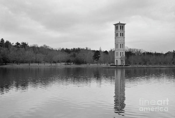 Photograph - Furman Bell Tower 4 Bw by David Waldrop