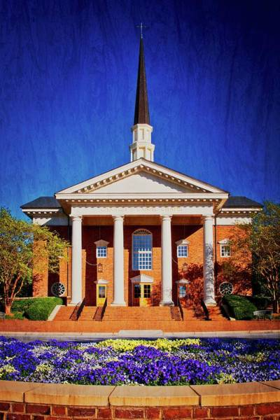 Photograph - Charles E. Daniel Chapel, Furman University, S.c. by Flying Z Photography by Zayne Diamond
