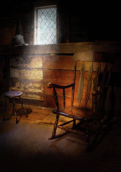 Photograph - Furniture - Chair - Forgotten Memories  by Mike Savad