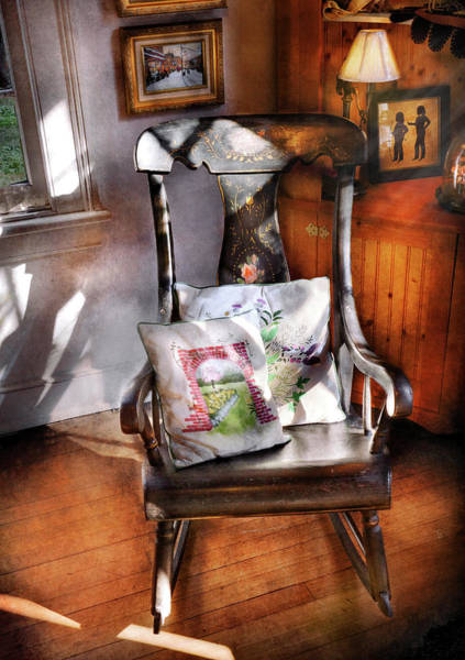 Photograph - Furniture - Chair - Grannies Rocking Chair  by Mike Savad