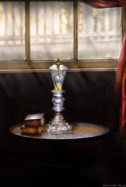 Photograph - Furniture - Lamp -  The Oil Lamp by Mike Savad