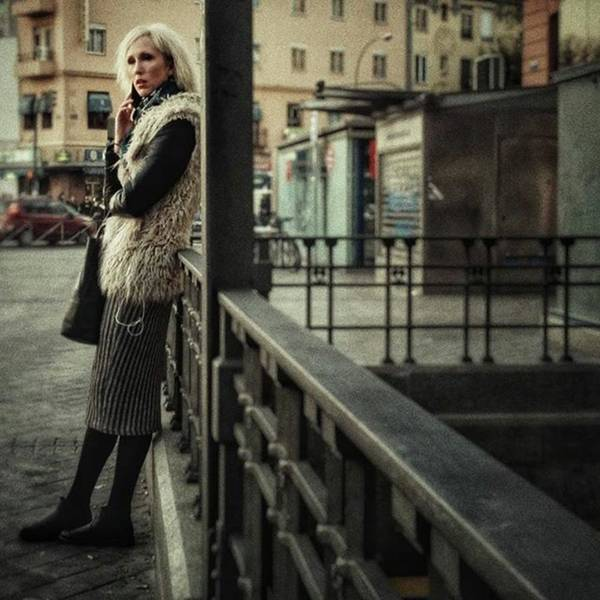 Furry Blondie #woman #portraits Art Print