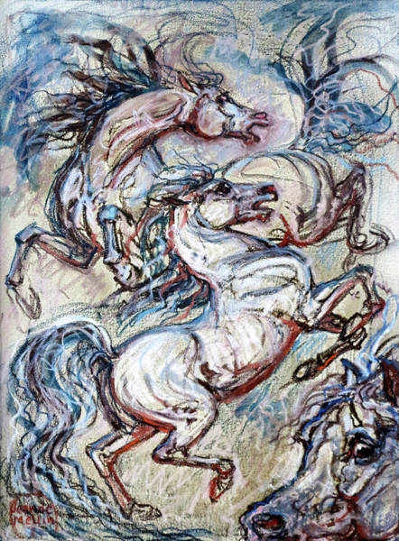 Jeanne Wall Art - Painting - Fury by Jeanne Mellin Herrick