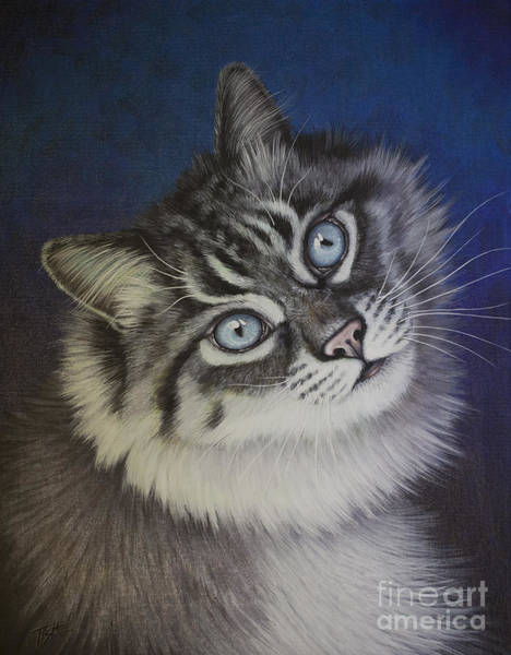 Painting - Furry Tabby Cat by Tish Wynne