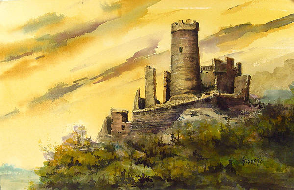 Castles Painting - Furstenburg On The Rhine by Sam Sidders