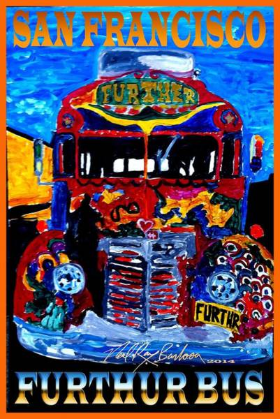 Painting - 50th Anniversary Further Bus Tour by Neal Barbosa