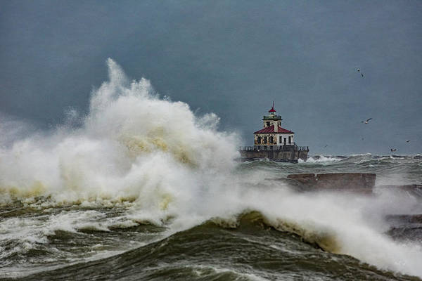 Great Lakes Photograph - Fury On The Lake by Everet Regal