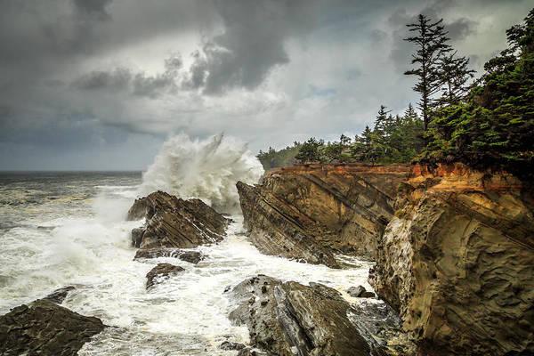 Photograph - Fury On The Oregon Coast by James Eddy
