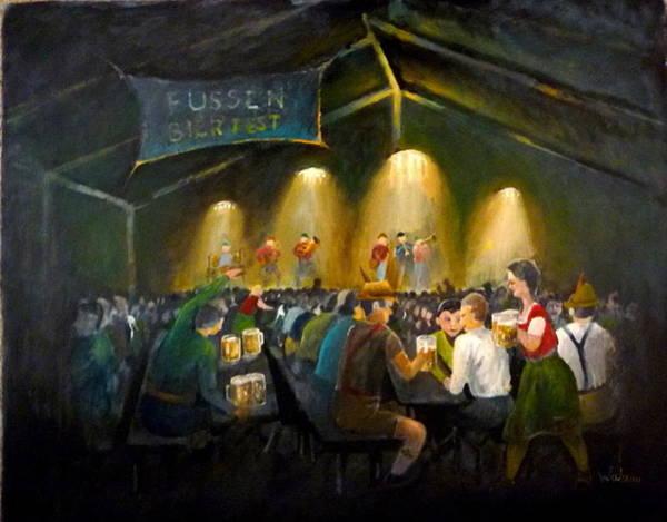 Bier Painting - Fussen Bier Fest by Derek Walsom