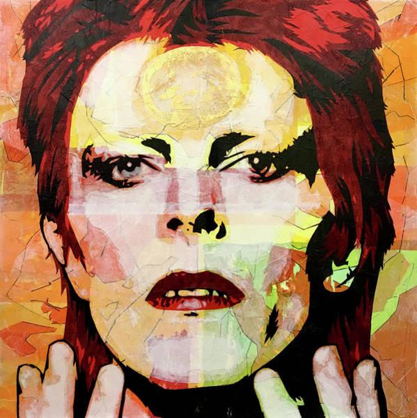 David Bowie Painting - Future Legend by Bobby Zeik