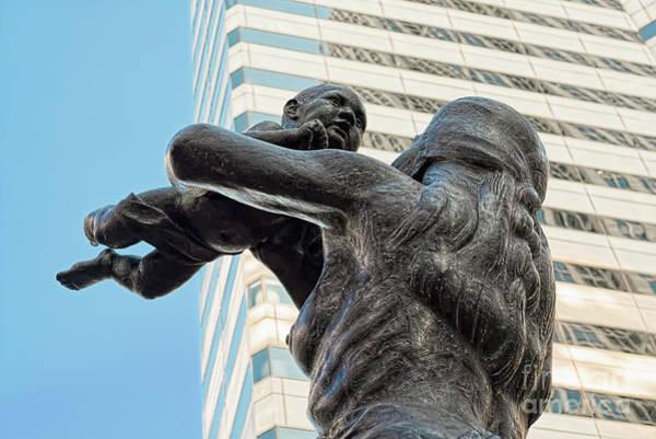 Photograph - Future Statue Charlotte Nc by Patrick M Lynch