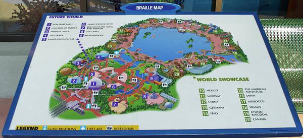 Boardwalk Wall Art - Photograph - Future World Map Walt Disney World Digital Art Mp by Thomas Woolworth