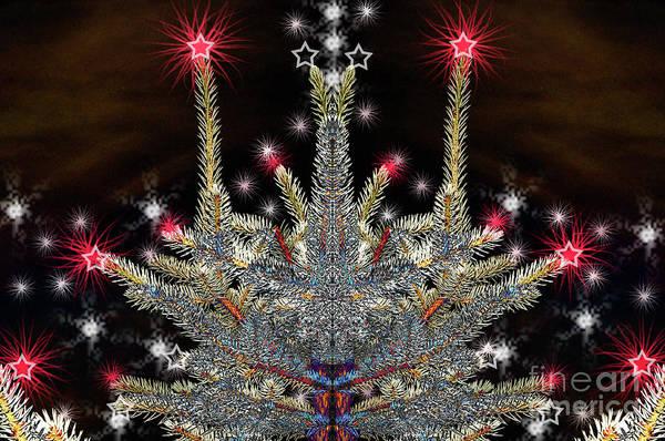 Digital Art - Futuristic Christmas Sound by Silva Wischeropp