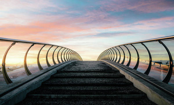 Blade Runner Photograph - Futuristic Pedestrian Bridge by Alexandre Rotenberg