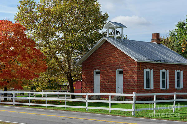 Photograph - Fx17e Little Red Schoolhouse by Ohio Stock Photography