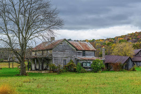 Photograph - Fx1e-43 Old Farm House by Ohio Stock Photography