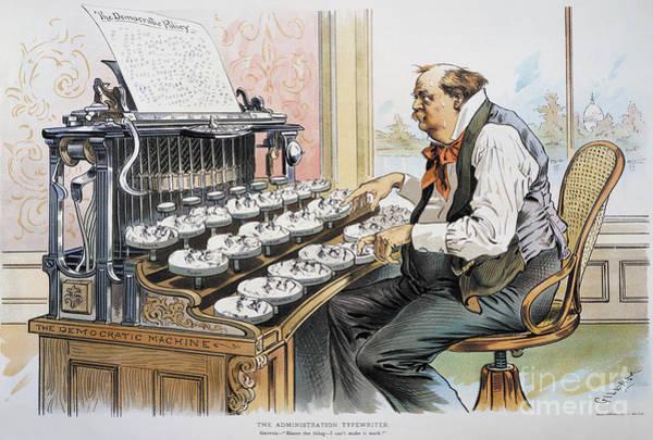 Photograph - G. Cleveland Cartoon, 1893 by Granger
