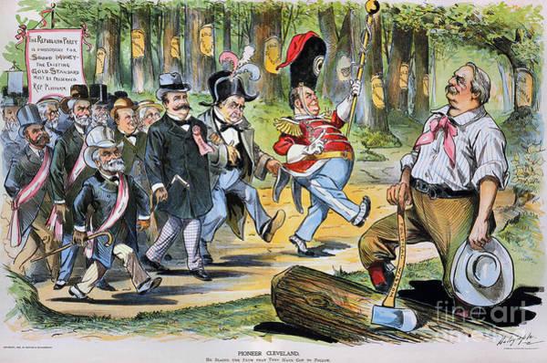 Photograph - G. Cleveland Cartoon, 1896 by Granger