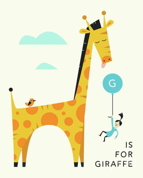 For Digital Art - G Is For Giraffe 2 by Jazzberry Blue