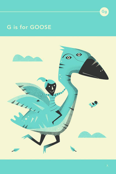 Illustrator Wall Art - Digital Art - G Is For Goose by Jazzberry Blue