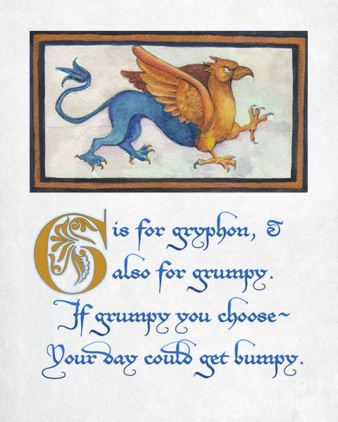 G Is For Gryphon Art Print