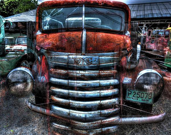 Heavy Duty Truck Wall Art - Photograph - G M C Farm Truck by Daniel Hagerman
