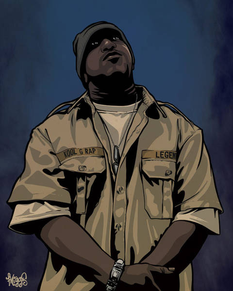 Artist Drawing - G Rap Giancana by Miggs The Artist
