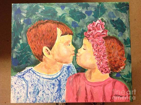 Allman Painting - Gabriel And Isabella  by Helen Allman