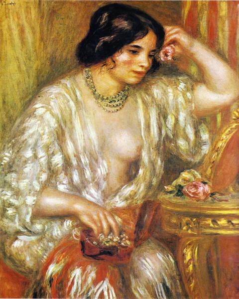 Painting - Gabrielle Aux Bijoux by Pierre-Auguste Renoir