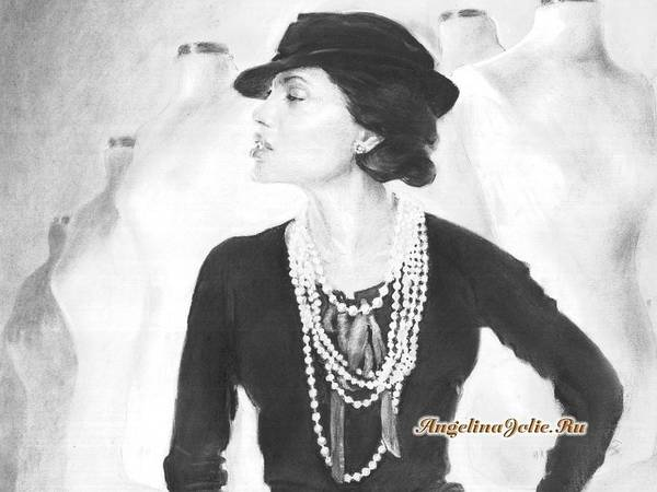 Coco Drawing - Gabrielle Coco Bonheur Chanel Featured By Angelina Jolie by Michael Klimusha