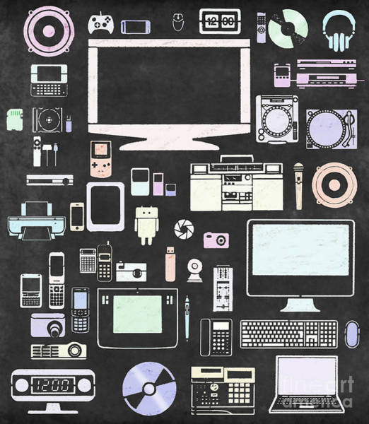 Pads Digital Art - Gadgets Icon by Setsiri Silapasuwanchai