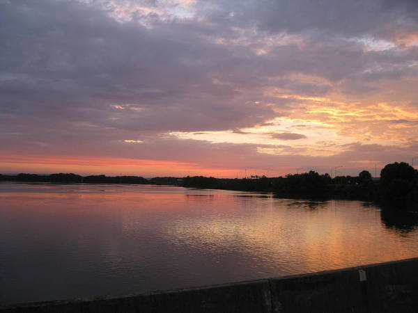 Coosa River Photograph - Gadsden Sunset by Delnora Reed