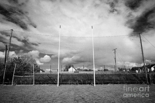 Gaelic Photograph - Gaelic Football Goal And Catch Net On A Pitch In Ireland by Joe Fox