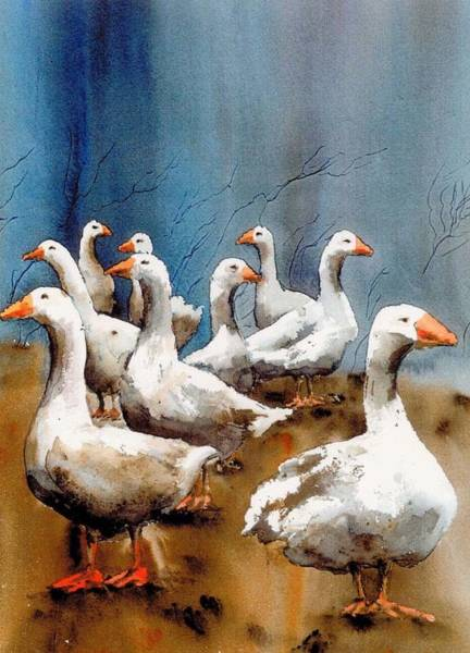 Painting - Gagle X 9 by Val Byrne